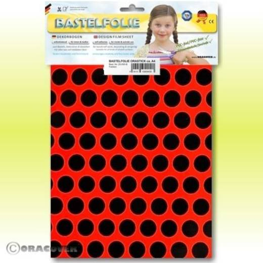 Oracover Orastick Fun 1 45-021-071-B Plakfolie (l x b) 300 mm x 208 mm Rood-zwart (fluorescerend)