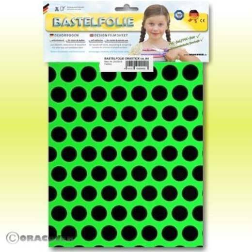 Oracover Orastick Fun 1 45-041-071-B Plakfolie (l x b) 300 mm x 208 cm Groen-zwart (fluorescerend)