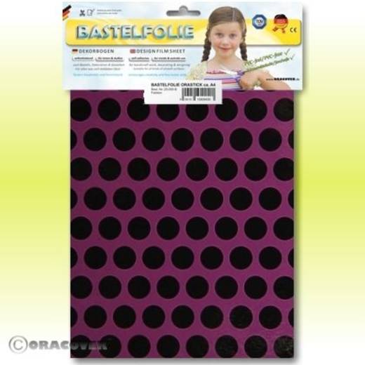 Oracover Orastick Fun 1 45-054-071-B Plakfolie (l x b) 300 mm x 208 mm Violet-zwart