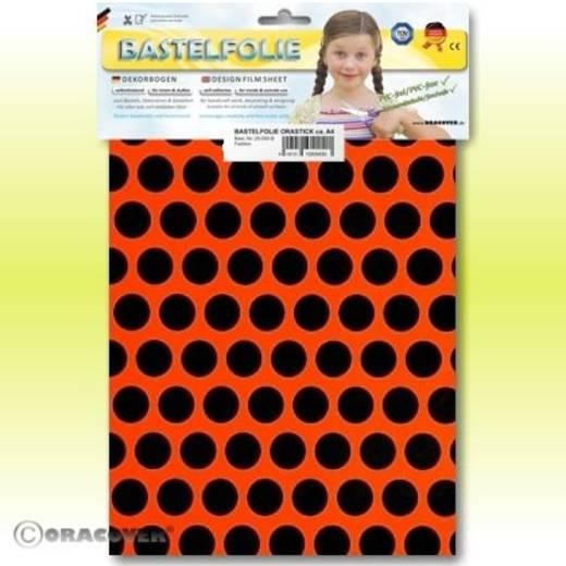 Oracover Orastick Fun 1 45-064-071-B Plakfolie (l x b) 300 m x 208 cm Rood-oranje-zwart (fluorescerend)