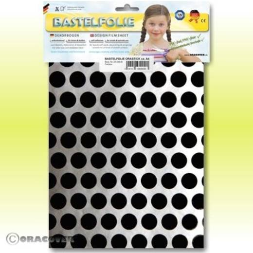 Oracover Orastick Fun 1 45-091-071-B Plakfolie (l x b) 300 mm x 208 mm Zilver-zwart