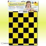 Knutselfolie - ORASTICK-FUN 3, ca. A4 parelmoer geel - zwart