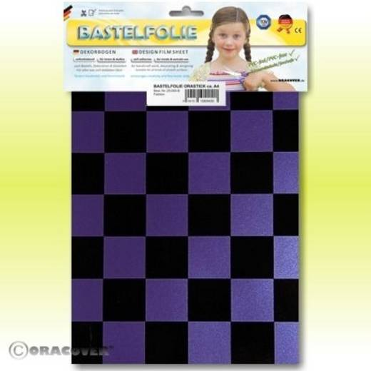 Oracover Orastick Fun 3 47-056-071-B Plakfolie (l x b) 300 mm x 208 mm Parelmoer lila-zwart