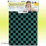 Knutselfolie - ORASTICK FUN 4, ca. A4 turquoise - zwart