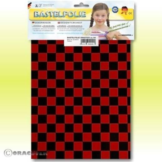 Oracover Orastick Fun 4 48-023-071-B Plakfolie (l x b) 300 mm x 208 mm Rood/zwart