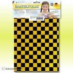 Knutselfolie - ORASTICK FUN 4, ca. A4 geel - zwart