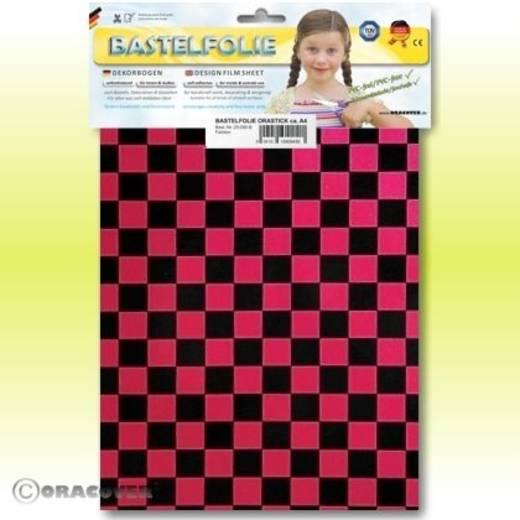 Oracover Orastick Fun 4 48-027-071-B Plakfolie (l x b) 300 mm x 208 mm Parelmoer rood-zwart