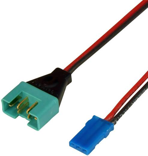 Accu Adapterkabel [1x MPX-stekker - 1x JR-bus, Futaba-bus] 250 mm 0.50 mm² Powerbox Systems