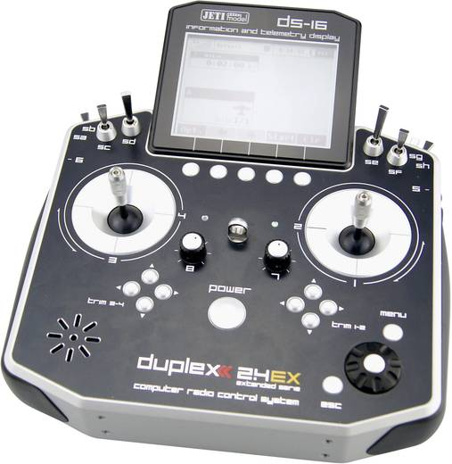 Jeti DUPLEX DS-16 Mode 2/4 RC handzender 2,4 GHz Aantal kanalen: 16 Incl. ontvanger