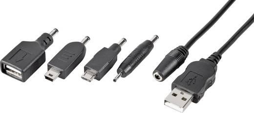 VOLTCRAFT Mobiele telefoon Adapterkabel [1x USB 2.0 stekker A - 5x USB 2.0 bus A, Mini-A-USB-stekker, Micro-USB-stekker, Nokia 2 mm stekker] 1 m