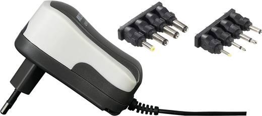 VOLTCRAFT USPS-600 Stekkernetvoeding, instelbaar 3 V/DC, 4.5 V/DC, 5 V/DC, 6 V/DC, 7.5 V/DC, 9 V/DC, 12 V/DC 600 mA 7.2