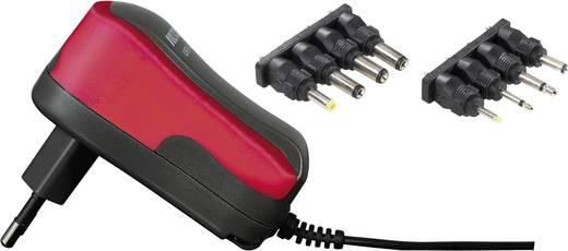 VOLTCRAFT USPS-600 Rood Stekkernetvoeding, instelbaar 3 V/DC, 4.5 V/DC, 5 V/DC, 6 V/DC, 7.5 V/DC, 9 V/DC, 12 V/DC 600 mA