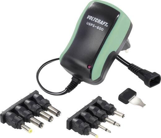 VOLTCRAFT USPS-600 Groen Stekkernetvoeding, instelbaar 3 V/DC, 4.5 V/DC, 5 V/DC, 6 V/DC, 7.5 V/DC, 9 V/DC, 12 V/DC 600 m
