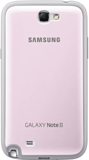 Samsung Protective Cover GSM backcover Geschikt voor model (GSM's): Samsung Galaxy Note 2, Samsung Galaxy Note 2 LTE Roz
