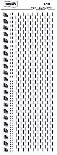 SENO Tranferbladen bochten Zwart (l x b) 250 mm x 1 mm Inhoud 1 stuks