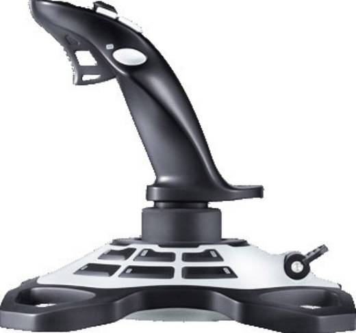 Logitech Extreme 3D Pro Joystick USB PC Zwart, Zilver