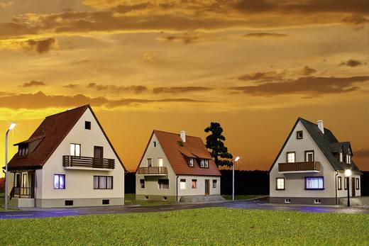 Kibri 38995 H0 3 vrijstaande huizen