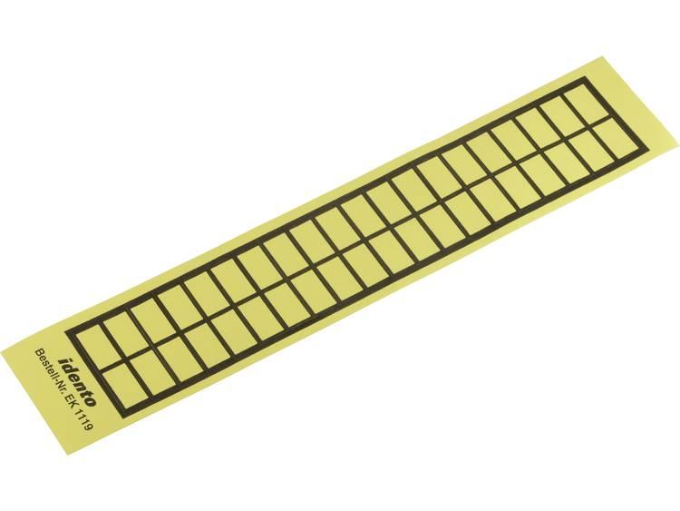 Kabeletiket EK 19 x 11 mm Kleur van het label: Geel TE Connectivity 6-1768019-8 Aantal etiketten: 40