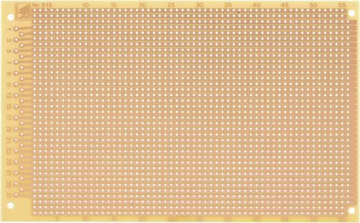 WR Rademacher WR-type 915 Experimenteer printplaat Hardpapier (l x b) 160 mm x 100 mm 35 µm Rastermaat 2.54 mm Inhoud 1