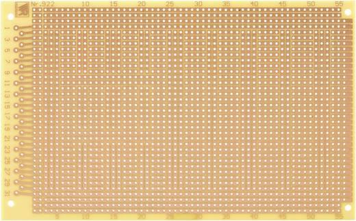 WR Rademacher WR-type 922 Experimenteer printplaat Hardpapier (l x b) 160 mm x 100 mm 35 µm Rastermaat 2.54 mm Inhoud 1