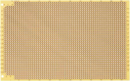 WR Rademacher WR-type 934 Experimenteer printplaat Hardpapier (l x b) 160 mm x 100 mm 35 µm Rastermaat 2.54 mm Inhoud 1