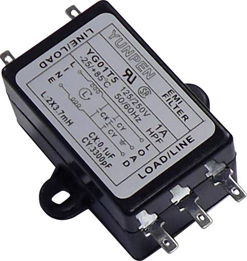 Yunpen YG01T5 Ontstoringsfilter 250 V/AC 1 A 3.7 mH 1 stuks