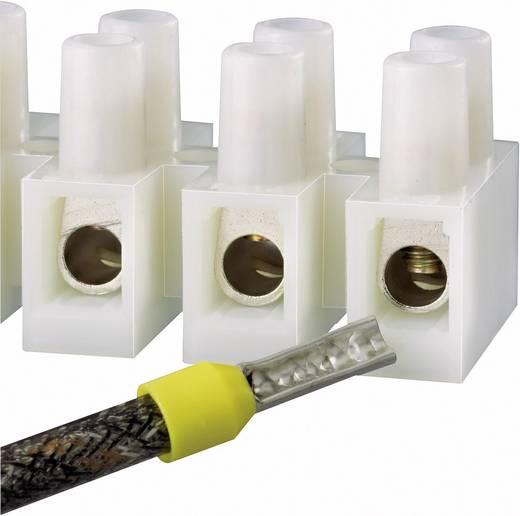 Kroonsteen Flexibel: 4-10 mm² Massief: 4-10 mm² Aantal polen: 12 10 stuks Wit