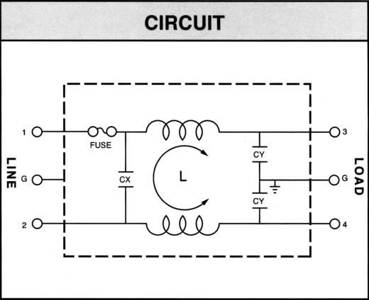 Yunpen YL06T1 Netfilter Met IEC-connector, Met zekering 250 V/AC 6 A 0.7 mH 1 stuks