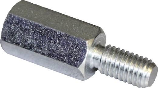Afstandsbouten (l) 10 mm M4 x 6 M4 x 8 Staal verzinkt PB Fastener S47040X10 S47040X10 10 stuks