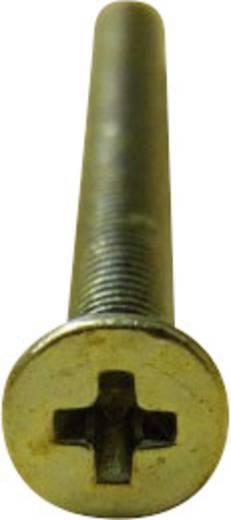 TOOLCRAFT Verzonken schroeven M4 6 mm Kruiskop Philips DIN 965 Staal verzinkt 100 stuks