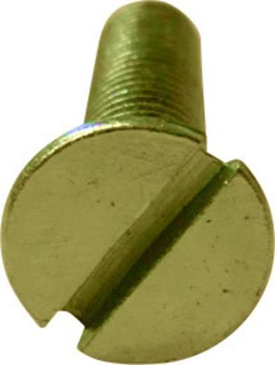 TOOLCRAFT Verzonken schroeven M2 6 mm Sleuf DIN 963 Staal verzinkt 100 stuks