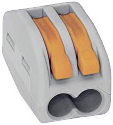 WAGO 222 Lasklem Flexibel: 0.08-4 mm² Massief: 0.08-2.5 mm² Aantal polen: 2 50 stuks Grijs, Oranje