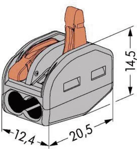 WAGO 222 Lasklem Flexibel: 0.08-4 mm² Massief: 0.08-2.5 mm² Aantal polen: 2 1 stuks Grijs, Oranje