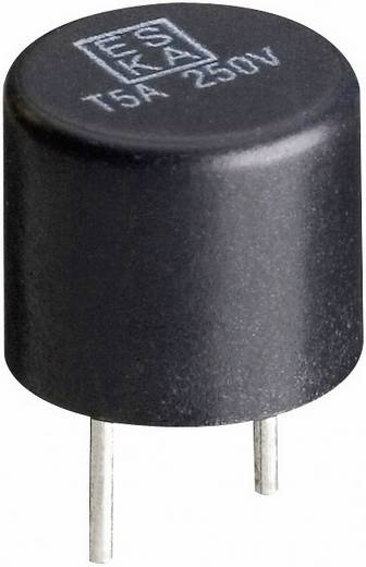 ESKA 887008 Printzekering Radiaal bedraad Rond 125 mA 250 V Traag -T- 500 stuks