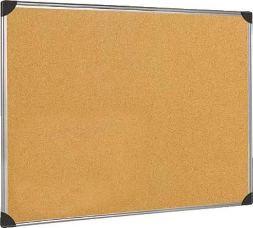 5-Star prikbord van kurk, met aluminium rand, 60x45 cm bruin kurk/aluminium