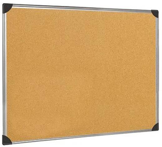 5-Star prikbord van kurk, met aluminium rand, 90x60 cm bruin kurk/aluminium