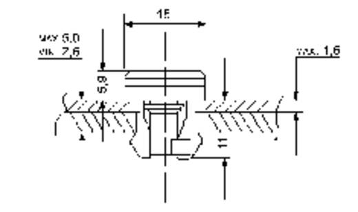 PB Fastener 04.90.10 Snellebevestiging Naturel 1 stuks