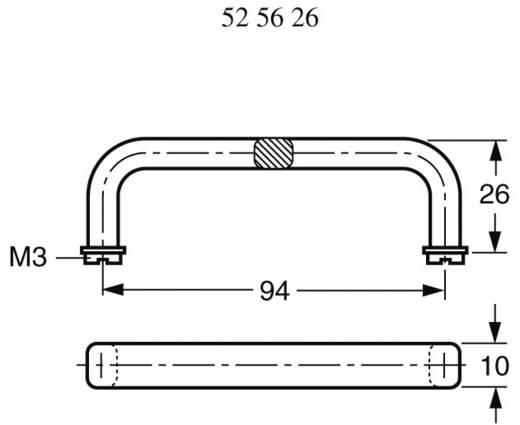 Strapubox 94104 Draaghandgreep Zwart (l x b) 104 mm x 26 mm 1 stuks