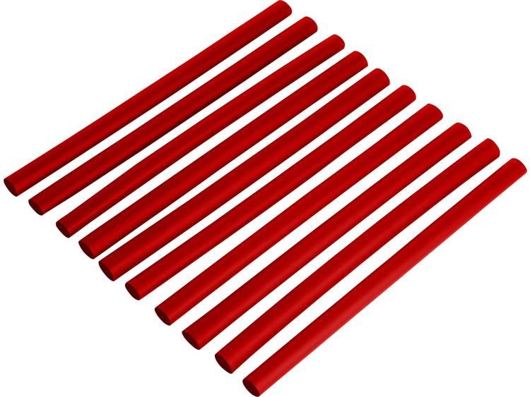 Krimpkousenset 2:1 Ø voor-na krimpen: 1.6 mm-0.8 mm 1 set Rood