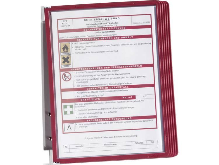 Durable wandsysteem Vario Wall 5/5551-03 rood inh. 5 panelen