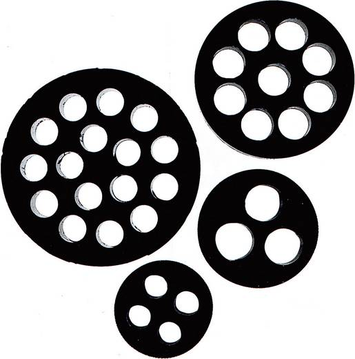 Meervoudig dicht-inzetstuk M25 Nitril-butadieen rubber Zwart LappKabel SKINTOP® DIX-M25 1 stuks