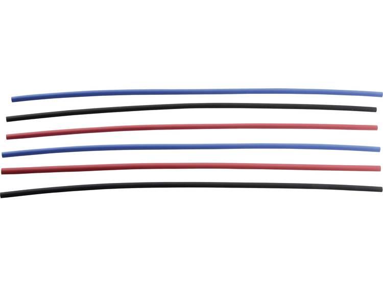 Krimpkous assortiment 3:1 Ø voor-na krimpen: 6 mm-2 mm Krimpverhouding 3:1 1 pack Zwart, Rood, Blauw