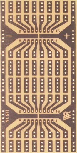 WR Rademacher WR-type 911 Experimenteer printplaat Hardpapier (l x b) 110 mm x 80 mm 35 µm Rastermaat 2.54 mm Inhoud 1 stuks