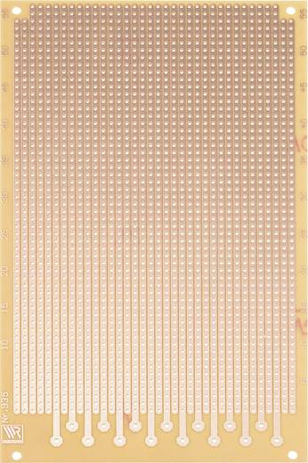 WR Rademacher WR-type 935 Experimenteer printplaat Hardpapier (l x b) 160 mm x 100 mm 35 µm Rastermaat 2.54 mm Inhoud 1