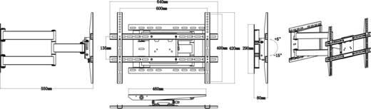 "TV-beugel SpeaKa Professional 527504 66,0 cm (26"") - 139,7 cm (55"") Kantelbaar en zwenkbaar"