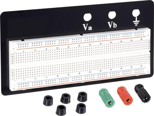 Breadboard Totaal aantal polen 830 (l x b x h) 165 x 55 x 8.5 mm Conrad Components EIC-102B 1 stuks