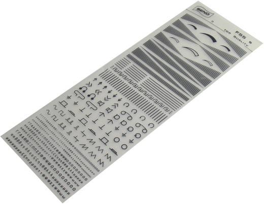 SENO Tranferbladen schalen Zwart (l x b) 250 mm x 90 mm Inhoud 1 stuks