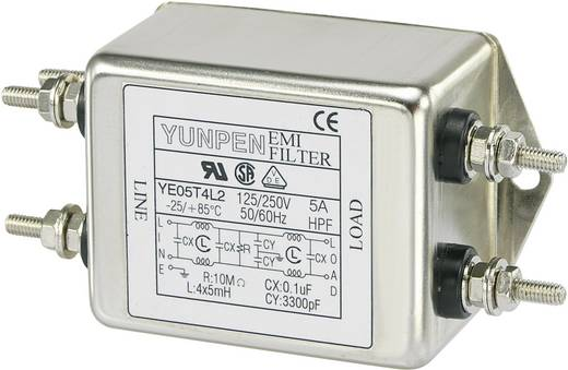 Yunpen YE05T4L2 Ontstoringsfilter 250 V/AC 5 A 5 mH 1 stuks