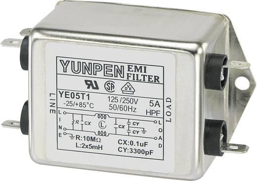Yunpen YE05T1 Ontstoringsfilter 250 V/AC 5 A 5 mH 1 stuks
