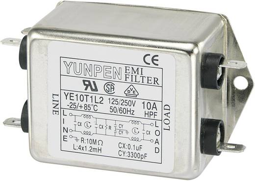 Yunpen YE10T1L2 Ontstoringsfilter 250 V/AC 10 A 1.2 mH 1 stuks